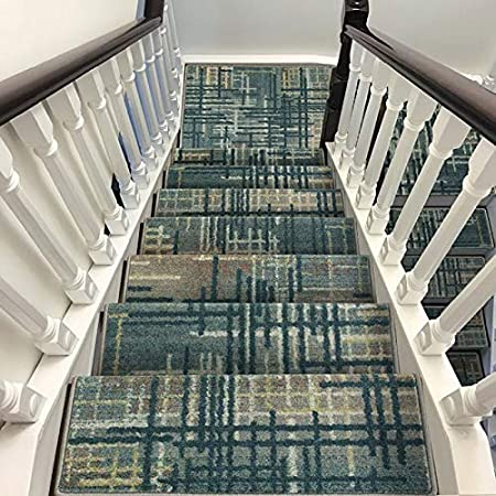 Antideslizantes para escaleras Almohadilla De Escalera Autoadhesiva Alfombra Jacquard Escalera Espesar Alfombra Paso Decoración Interior TZXSHO (Color : Multicolor C(100x24cm), Size : 1pc): Amazon.es: Hogar