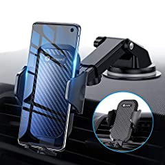 VICSEED UPGRADED 3 in 1 Smart car phone holder- 3 mounting ways for you to choose for all your needs 1. All-Around Protection: There are shock-absorbing sponge, silicone padded back and silicone pads holding feet on the car phone mount for se...