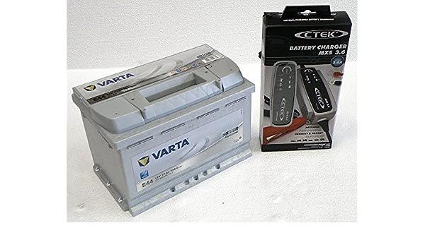 Varta E44 batería de coche con cargador de baterias ...