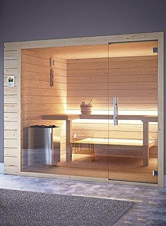 grandform Bio Sauna Sauna Finlandés Estufa Eléctrica 3 plazas seduti (1 Tumbado) Bio Pro 1812 (cm). 180 x 120 x 208 H.): Amazon.es: Hogar