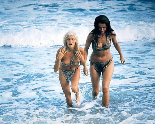 When Dinosaurs Ruled the Earth Victoria Vetri, Imogen Hassall sexy coming out of sea 16x20 Poster