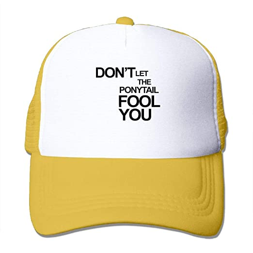 e135710585622 Lixiaoyan Don t Let The Ponytail Fool You5Custom Breathable Trucker Mesh Hat