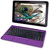 2018 Newest Premium High Performance RCA Galileo 11.5 2-in-1 Touchscreen Tablet PC Intel Quad-Core Processor 1GB RAM 32GB Hard Drive Webcam Wifi Bluetooth Android 6.0-Purple