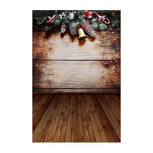 Pausseo 2019 Merry Christmas 3D Studio Background Cloth Snowflake Snowman Xmas Tree Balls Photo Shooting Vinyl Fireplace Household Home Decor Backdrops Glass Wallpaper Scenes 90x150cm ()