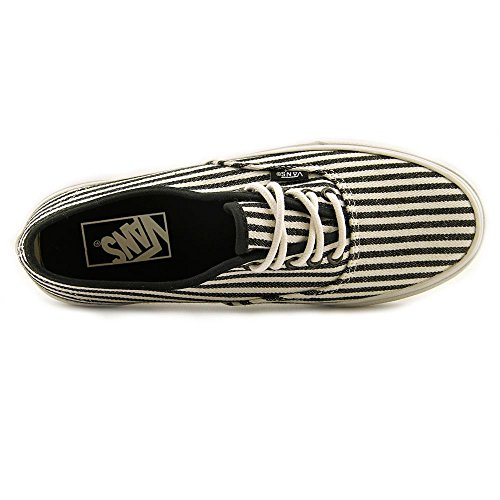 Vans Autentici Slim Hickory Stripes Scarpe Skater Nere ((us) Uomo 7.5 / Donna 9)
