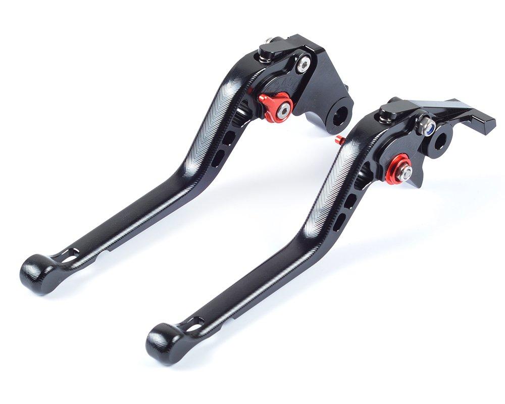 Tencasi Titanio CNC 3D Corto Regolabile Freni e Frizione Leve per Honda VFR 1200//F 2010-2014