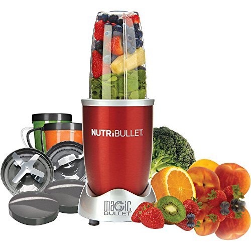 Nutri Bullet NBR-12 12-Piece Hi-Speed Blender/Mixer System,RED image