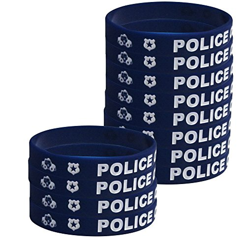 Police Kids' Wristbands (12), Police Party Supplies, Graduations, Kids' Wearable Accessories