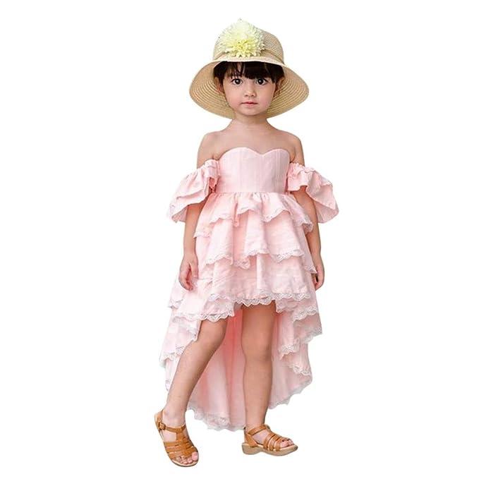 d9dd44779 Luckycat Bandeau Vestido Niña Vestido Encaje Sin Mangas Tutú Princesa  Vestido Bebé Niña Verano Ropa Niña