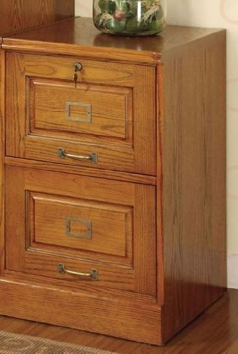 Amazon.com: Palmetto Oak File Cabinet w/ 2 Drawers: Kitchen & Dining