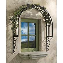 Design Toscano Thornbury Ornamental Metal Garden Window Trellis
