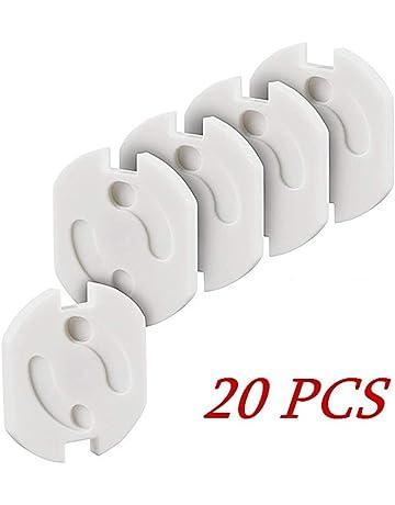 20pcs Protector Enchufes, MUXItrade Seguridad Enchufes con Resistente Adhesivo y Mecanismo de Giro para Niños