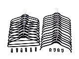 Joy Mangano (34 Piece Set) Huggable Hangers Non Slip Velvet Hangers Ivory With Finger Clips