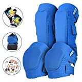 Simply Kids Innovative Soft Knee and Elbow Pads with Bike Gloves I Toddler Protective Gear Set w/Mesh Bag I Comfortable & CSPC Certified I Bike, Roller-Skating, Skateboard Knee Pads for Kids