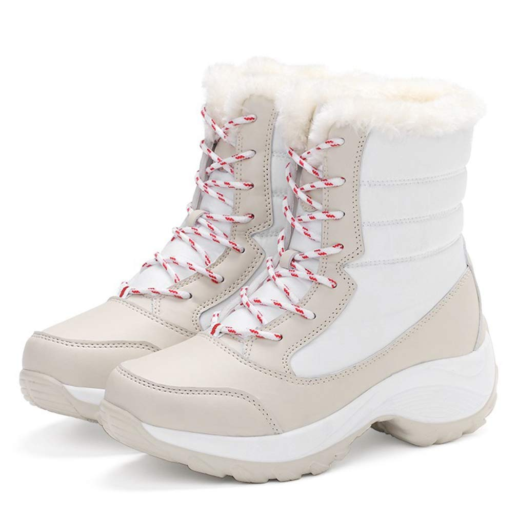 New Women Boots Non-Slip Waterproof Winter Ankle Snow Boots Mother Winter Warm Snow Boots with Thick Fur