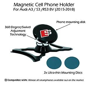Audi A3 / S3 / RS3 8V (2015-2018) Magnetic Cell Phone Holder / Mount (Black)