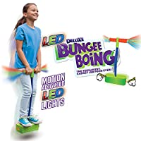 The Original Deluxe LED BUNGEE BOING! by Geospace; The Squeakiest, Easiest Pogo Stick Ever! For Kids 3 Years and Up