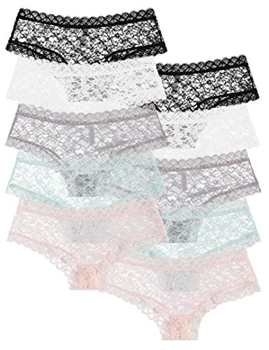 Sexy Lace Boyshort Panties (10 Pack: Trimed Sexy Lace Boy Short Panties (Medium))