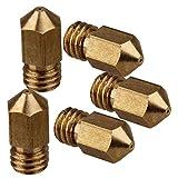 CNBTR Yellow Copper 0.4mm 3D Printer Extruder Nozzle Print Head for RepRap MK8 DIY Pack of 5