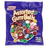 Shari Assorted Gum Ball 4.5 Ounce Bags (Pack of 12)