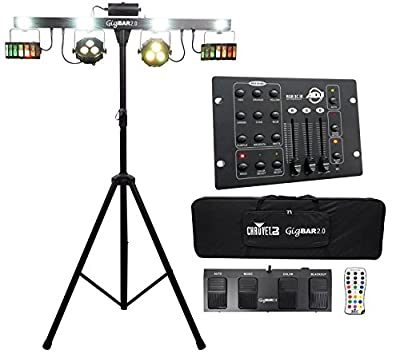 Chauvet GigBar 2.0 Light Bar w/Tripod+Footswitch+Remote+Bag+DMX Controller by CHAUVET
