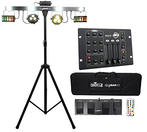 Chauvet GigBar 2.0 Light Bar w/Tripod+Footswitch+Remote+Bag+DMX Controller