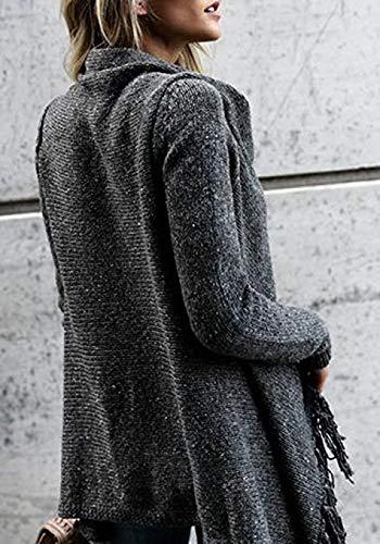 UNINUKOO Unko Men Long Hooded Hoodies Longline Cardigans Outwear Sweatshirts