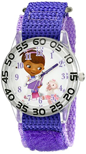 Disney Kids' W001684 Doc McStuffins Analog Display Analog Quartz Purple Watch