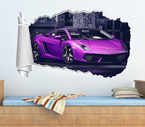 Lamborghini Gallardo 3D Torn Hole Ripped Wall Sticker Decal Art Luxury Car WT236, Huge by Dizzy (Image #3)