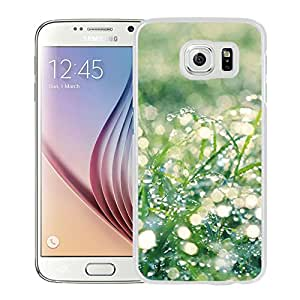 New Beautiful Custom Designed Cover Case For Samsung Galaxy S6 With Sunshine Grass Leaf Dew (2) Phone Case