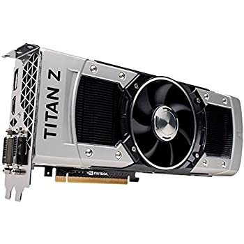 Nvidia GeForce GTX Titan Z 12 GB GDDR5 7.0 Gbps PCIe 3.0 x16 DVI-I DVI-D HDMI DP SLI Ultimate Gaming Graphics Card