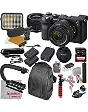 $2098 » Sony Alpha a7C Mirrorless Digital Camera with 28-60mm Lens (Black) Video Bundle + LED Video Light + Microphone + Extreme Speed 64GB Memory(20pc Bundle)