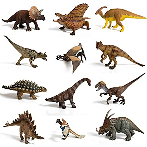 12 piece Large Assorted Dinosaurs highly detailed realistic looking superior quality to last - Ankylosaurus Dinosaur Toy