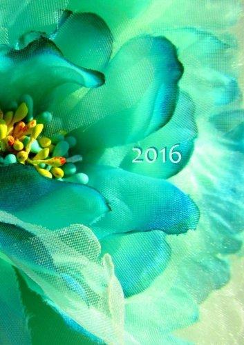 Taschenbuch-Kalender 2016 - Flower Power: DIN A5, 1 Woche auf 2 Seiten, Platz für Adressen und Notizen