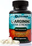 Extra-Strength Nitric Oxider Booster, L-Arginine Supplement, 1300mg Muscle Builder, Vascularity & Energy | Cardio Heart Supplement with L-Citrulline | Essential Amino Acids to Workout Stronger