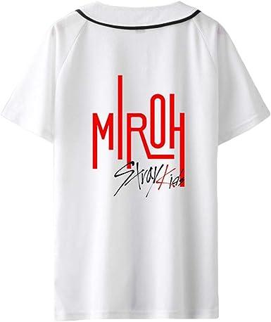 Stray Kids Camiseta Blusas Estampadas de Camiseta de béisbol de Verano Personaliza Camisa de Manga Corta Unisex: Amazon.es: Ropa y accesorios