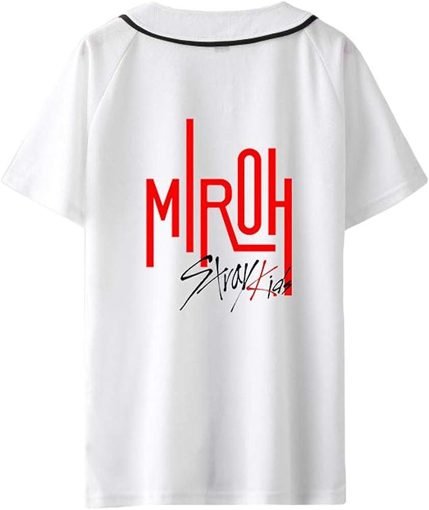Stray Kids Camiseta Blusas Estampadas de Camiseta de béisbol de Verano Personaliza Camisa de Manga Corta Unisex (Color : A01, Size : XS): Amazon.es: Ropa y accesorios