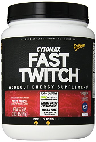 CytoSport rapide Workout Twitch Power Drink Mix, Fruit Punch, 2,03 Pound