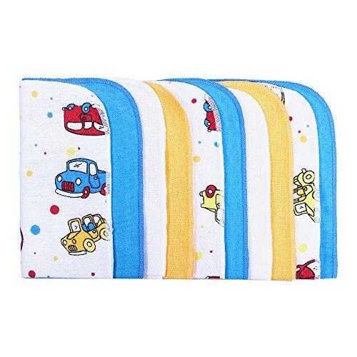 LULANDO Baby-Waschlappen und Waschtücher 25x25cm (10er Set). Waschbares Babytuch aus Baumwolle für Jungen und Mädchen.