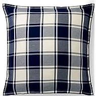 Ralph Lauren Winter Harbour Lane Acadia Blue Cream Plaid Euro Pillow Sham
