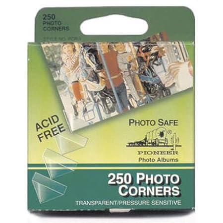 Pioneer Photo Corners Self Adhesive, 250/Pkg, Clear PCR-1