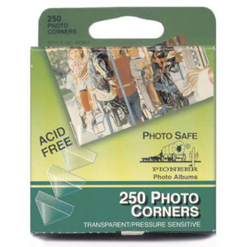 Pioneer PCR-1 Photo Corners Self Adhesive, Clear, 250-Pack