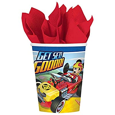 "Disney ""Mickey Roadster"" Cups, 9 oz., Party Favor: Toys & Games"