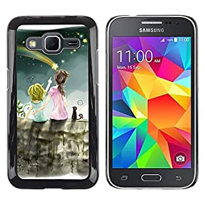 LECELL -- Funda protectora / Cubierta / Piel For Samsung Galaxy Core Prime SM-G360 -- Flying Star Sisters --