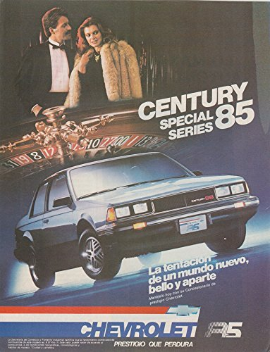 1985 CHEVROLET CENTURY SS SPECIAL SERIES (GM BUICK) CUPE 2 Puertas