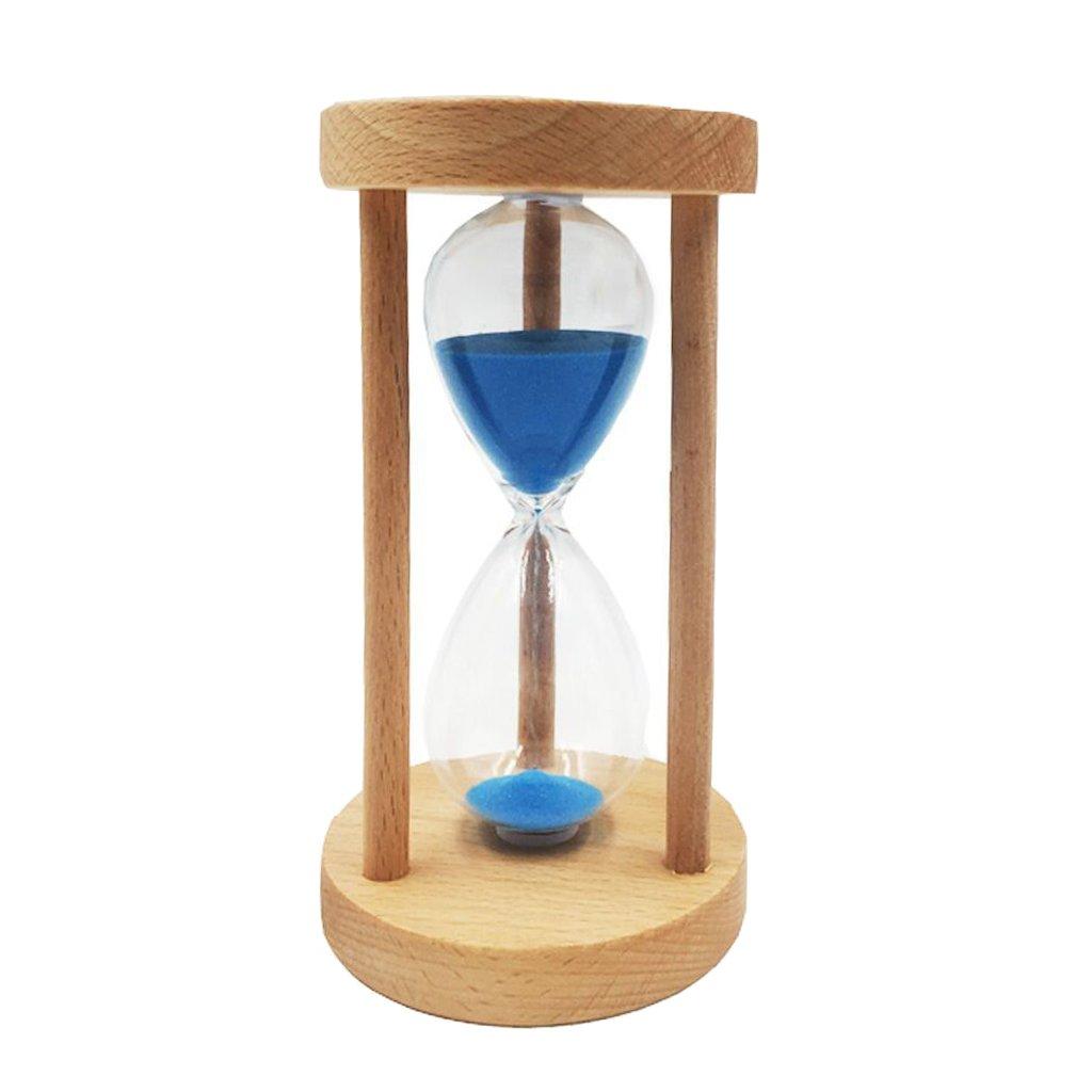MonkeyJack 15 Min Vintage Hourglass Sand Timer Sandglass Clock Home Study Room Office Table Decor Ornament Blue