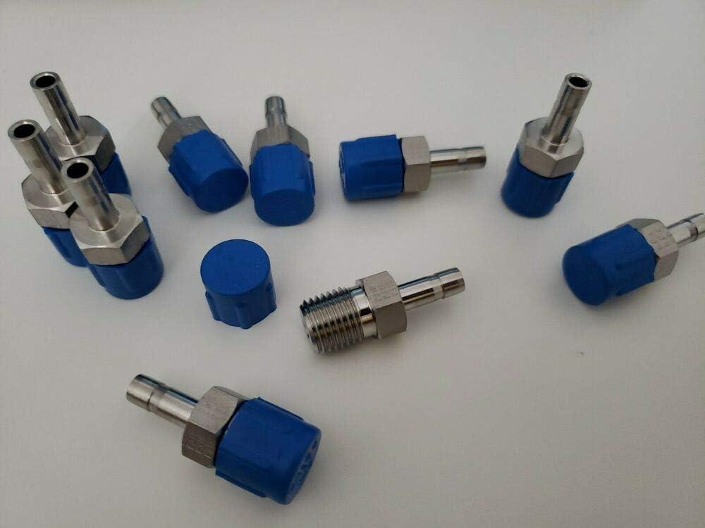 New Stainless Steel Tube End Male Adapter 1//4 Tube x 1//4 MNPT 4-4 T2HF-SS
