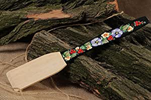 Wooden Kitchen Spatula Painted In Ethnic Style Handmade Kitchen Decor