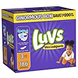 Health & Personal Care : Luvs Ultra Leakguards Wide Fastening Area Prevent Baby Skin Baby Diapers, comfortable feel,Size 3, 186 Count
