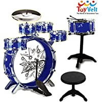 12 Piece Kids Jazz Drum Set – 6 Drums, Cymbal, Chair,...